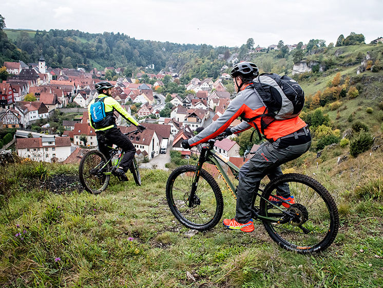 Mountainbiker bei Pottenstein